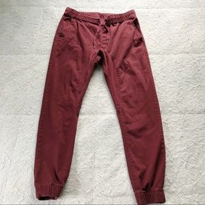 Ring Of Fire Maroon Joggers